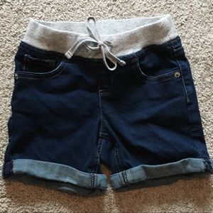 Justice jean shorts with comfy waistband